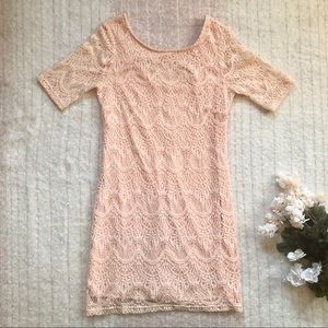 Blush Pink Lace F21 Dress